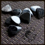 Jazz Tones Fat - Black Horn - 4 Guitar Picks | Timber Tones